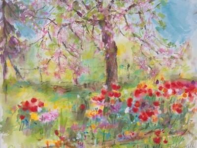 Tulips under Blossoming Appletree, 1991-Eva Fischer-Keller-Giclee Print