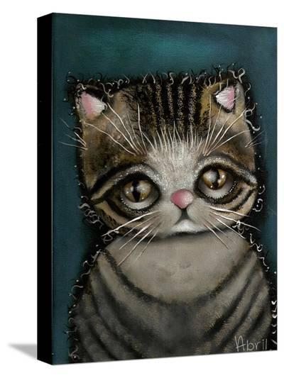 Tully the cat-Abril Andrade-Stretched Canvas Print