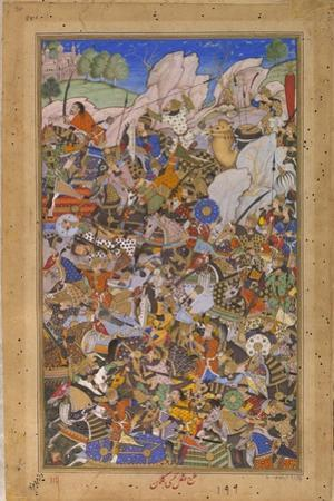 The Battle Preceding the Capture of the Fort at Bundi, Rajasthan, in 1577