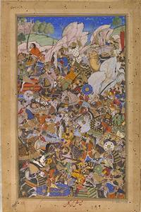 The Battle Preceding the Capture of the Fort at Bundi, Rajasthan, in 1577 by Tulsi Kalan
