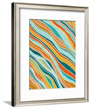 Tulum Abstract-Modern Tropical-Framed Art Print