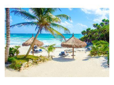 Tulum Beach Yucatan in Mexico--Art Print