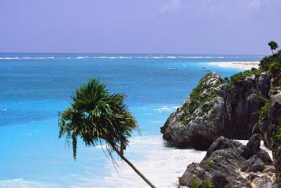 Tulum Shoreline Mexico-George Oze-Photographic Print