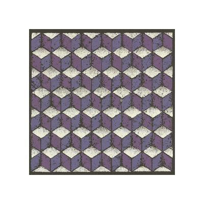 Tumbling Blocks - Plum-Susan Clickner-Giclee Print