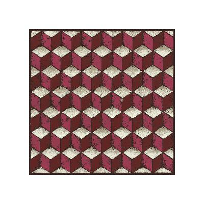 Tumbling Blocks (Red)-Susan Clickner-Giclee Print