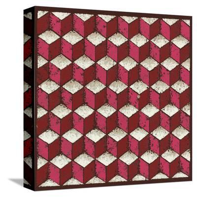 Tumbling Blocks (Red)-Susan Clickner-Stretched Canvas Print