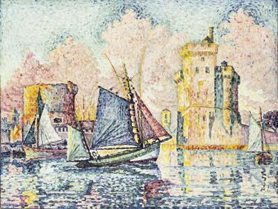Tuna Boat Entering the Port of La Rochelle, Setting; Le Thonier Entrant Dans Le Port de La…-Paul Signac-Giclee Print