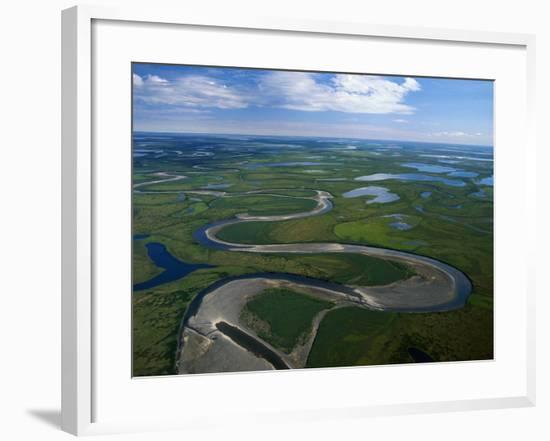 Tundra in Alaska-Danny Lehman-Framed Photographic Print