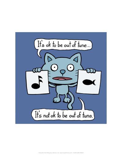 Tune vs Tuna - Antony Smith Cattitude Cartoon Print-Antony Smith-Art Print