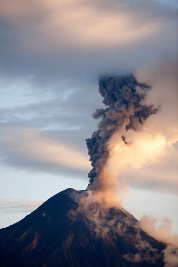 TUNGURAHUA VOLCANO Eruption, 06 12 2010, Ecuador, SOUTH AMERICA 4Pm LOCAL TIME-Ammit Jack-Photographic Print