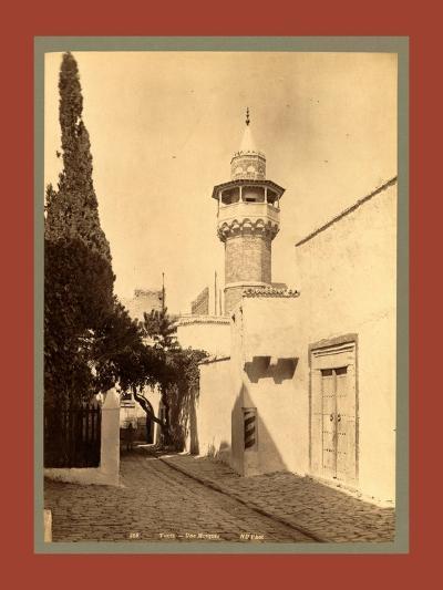 Tunis, a Mosque, Tunisia-Etienne & Louis Antonin Neurdein-Giclee Print