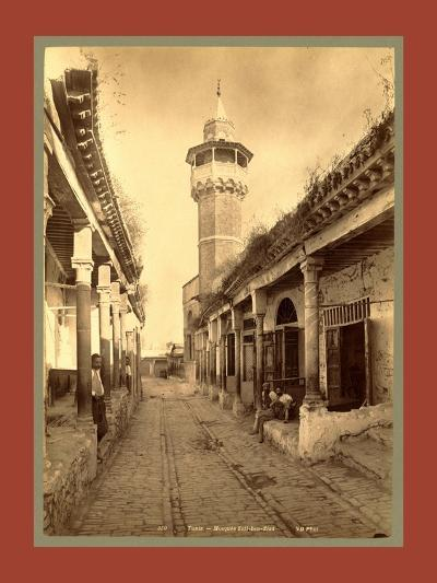Tunis, Mosque Sidi Ben Ziaa-Etienne & Louis Antonin Neurdein-Giclee Print