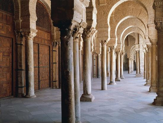 Tunisia, Kairouan Governorate, Kairouan, Kairouan Great Mosque, Colonnade--Giclee Print