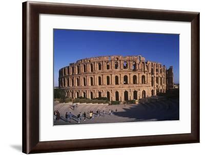 Tunisia, Mahdia Governorate, El Djem Roman Amphitheatre--Framed Giclee Print