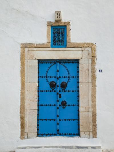 Tunisia, Sidi Bou Said, Building Detail-Walter Bibikow-Photographic Print