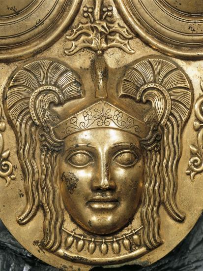 Tunisia, Tunis, Gilded Bronze Armor, Detail--Giclee Print