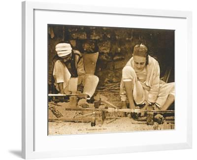 Tunisia - Wood Turning--Framed Photographic Print