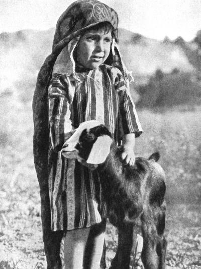 Tunisian Boy in the Sahara Desert, 1936-Ewing Galloway-Giclee Print
