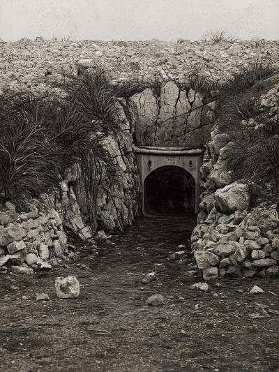 Tunnel at Monte San Michele--Photographic Print