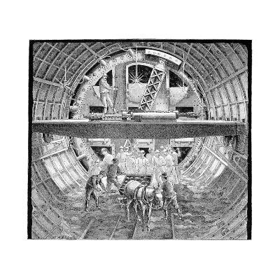Tunnel Construction, 19th Century-Science Photo Library-Giclee Print