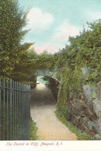 Tunnel in Cliff, Newport, Rhode Island