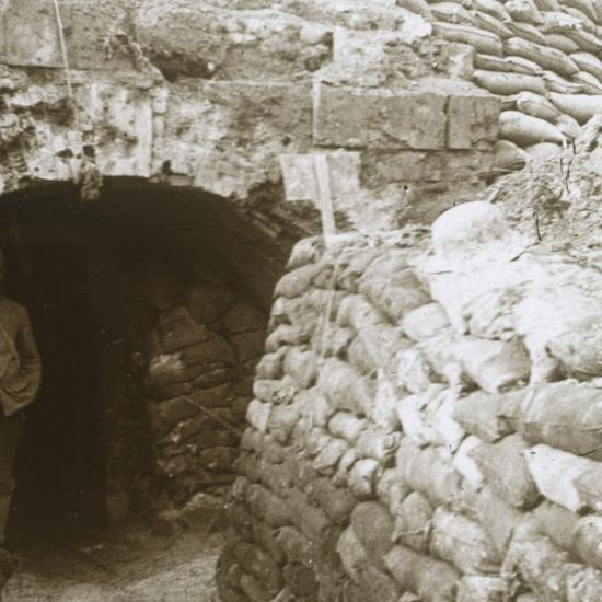 Tunnel, Mt Casque, France, c1914-c1918-Unknown-Photographic Print