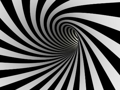 Tunnel Of Black And White Lines-iuyea-Art Print