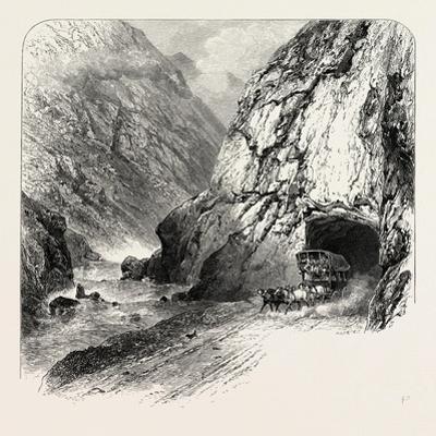 Tunnel on the St. Gothard Road, Near Andermatt, Switzerland, the Passes of the Alps, 19th Century