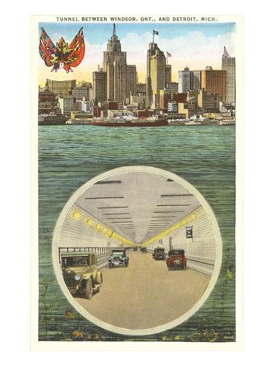 Tunnel to Windsor, Detroit, Michigan--Art Print