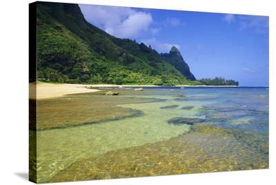 Tunnels Beach Kauai Hawaii--Stretched Canvas Print