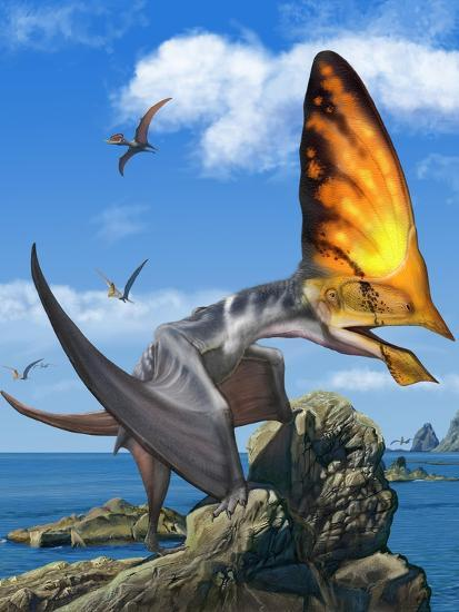 Tupandactylus Perched on a Rock During the Early Cretaceous Period--Art Print