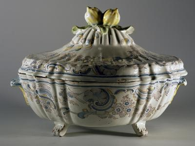 Tureen Decorated with Embossed Plant Motifs and Fruit, Majolica--Giclee Print