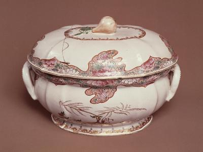 Tureen Decorated with Gold Pine, Ceramic, Felice Clerici Factory, Milan, Italy--Giclee Print