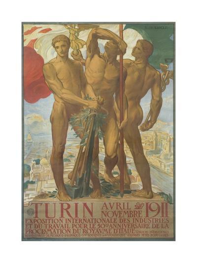 Turin Poster-Adolfo De Karolis-Giclee Print