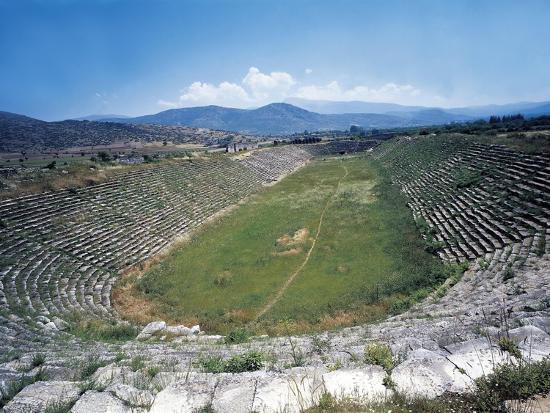 Turkey, Aegean Region, Aphrodisias, Stadium--Giclee Print