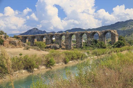 Turkey, Anatolia, Antalya, Aspendos Aqueduct over River Eurmedon.-Emily Wilson-Premium Photographic Print
