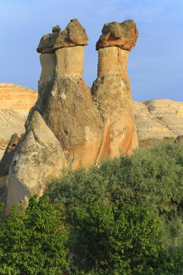 Turkey, Anatolia, Cappadocia, Goreme. 'Fairy Chimneys' in Red Valley.-Emily Wilson-Premium Photographic Print
