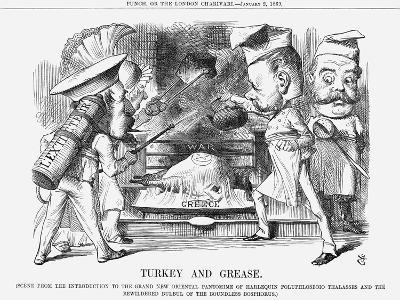 Turkey and Grease, 1869-John Tenniel-Giclee Print