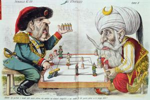 Turkey and Russia Playing a Game of Strategy, from Le Perroquet, 1877