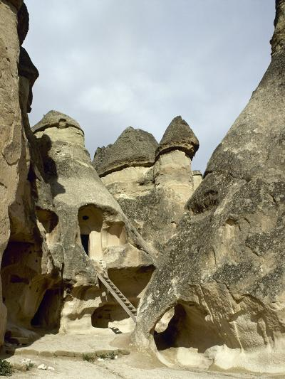 Turkey. Cappadocia. Pasabaglari. Monk's Valley. Cave House. Detail. Central Anatolia--Photographic Print