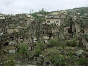 Turkey, Cappadocia, the Town Guzelyurt, Central Anatolia