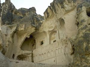 Turkey. Goreme National Park. Detail Crosses. Hidden Church. Cappadocia