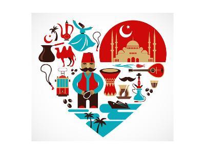 Turkey - Heart-Marish-Art Print
