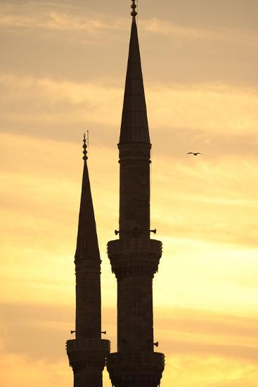 Turkey. Istanbul. Blue Mosque. 17th Century. Classical Ottoman Style. Sunset and Minarets--Photographic Print