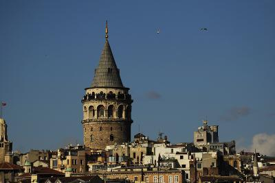 Turkey. Istanbul. Galata Tower. Medieva Stone Tower in Galata Quarter. Built in 1348--Photographic Print