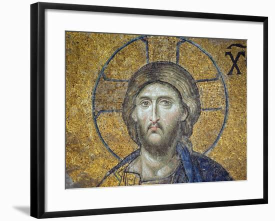 Turkey, Istanbul, Hagia Sophia; Detail from the Deesis Mosaic-Nick Laing-Framed Photographic Print