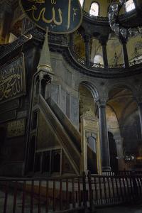 Turkey, Istanbul, Hagia Sophia, Minbar, Pulpit