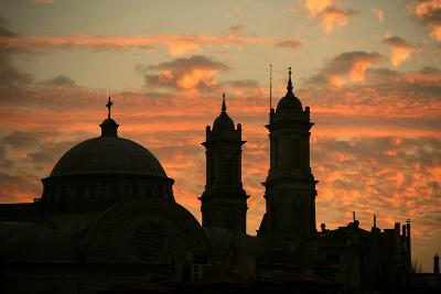Turkey. Istanbul. Hagia Triada, Greek Orthodox Chruch (1880). Sunset--Photographic Print