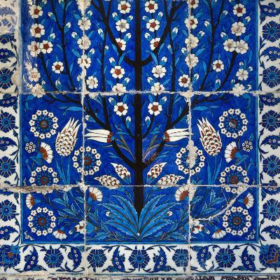 Turkey. Istanbul. Mausoleum of Roxela. 16th Century. Wife of Suleyman I. Tiling. Detail--Photographic Print