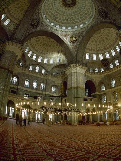 Turkey. Istanbul. New Mosque or Yeni Cami. 16th-17th Century. Prayer Room--Photographic Print